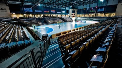 Eigentlich wollte der TV Hüttenberg in der Rittal-Arena bereits seinen Zweitliga-Auftakt gegen den Wilhelmshavener austragen. Doch es sollte kurzfristig anders kommen.   Foto: dpa