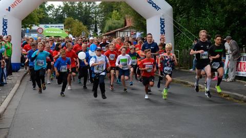 """Und los geht's: Über 1000 Läufer gingen bei """"Alsfeld bewegt"""" an den Start. Foto: Linda Buchhammer"""