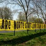 """""""Klare Worte statt leere Zeilen: ESL-Absage jetzt und für immer."""" Fan-Protest in Dortmund zur Super League. Foto: dpa"""