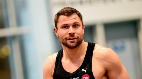 Ärgerlich: Michael Pohl vom Sprintteam Wetzlar wird im Finale des Indoor Meetings in Dortmund disqualifiziert.  Foto: Jan Hübner/Peters