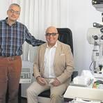 """Die neuen Partner des """"Alpha Augenzentrums"""" in Lauterbach: Dr. Raid Darawsha (links) und Dr. Bilal Ibrahim.  Foto: Kempf"""
