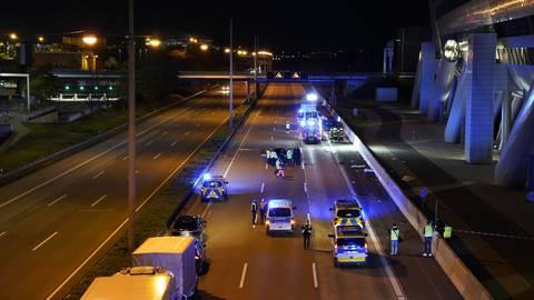Die A3 wurde in Fahrtrichtung Köln für die Unfallaufnahme gesperrt.  Foto: 5vision.media
