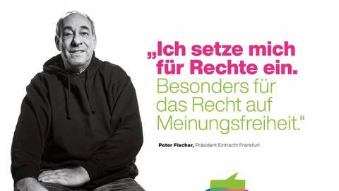 Auch Peter Fischer, Präsident von Eintracht Frankfurt, beteiligt sich an der Kampagne. Foto: Börsenverein