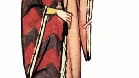 Heinrich von Meißen, genannt Frauenlob, war einer der stilprägendsten Dichter des Hochmittelalters. Hier eine Abbildung aus der Manessischen Liederhandschrift. Abbildung: Codex Manesse
