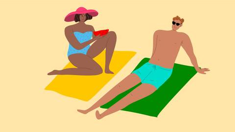 Sommerhitze ist für die einen ein Genuss, für andere lästig. Illustration: greenpicstudio - adobe.stock