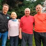Eine sportliche Familie: (v.l.) Stefan, Christel, Klaus und Andreas Schneider.  Foto: Alexander Fischer