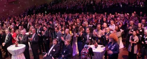 Etwa 1000 geladene Gäste kamen zum Neujahrsempfang der Universitätsstadt Marburg in das Erwin-Piscator-Haus.  Foto: Heiko Krause